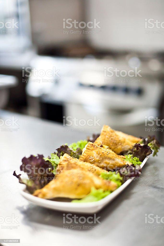 Filo pastry in kitchen stock photo