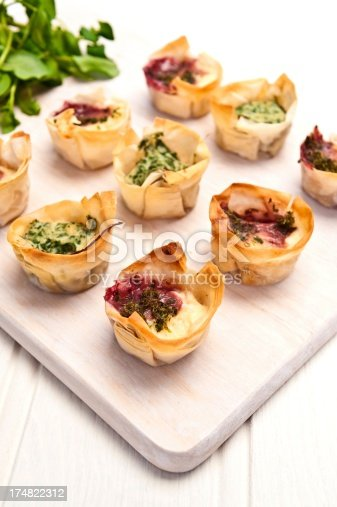 Cheese Filled Filo Tartlets