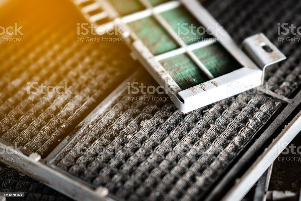 Filter plate of air condition stock photo
