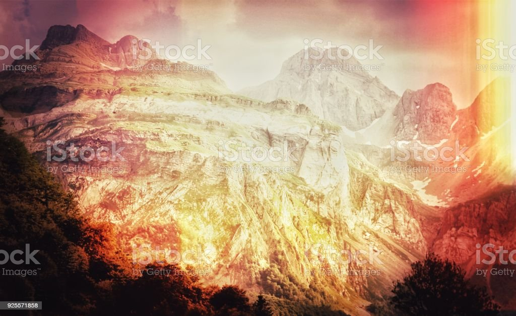 Filtered dreamlike landscape