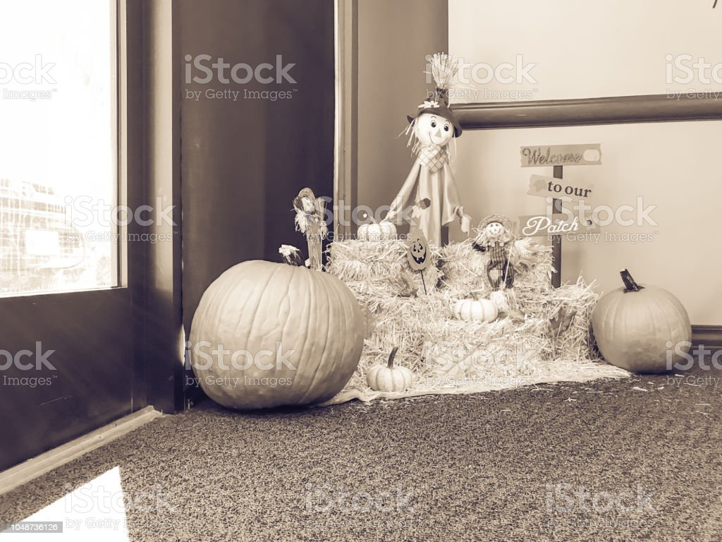 Filtered Tone Halloween Decoration At Office In Texas