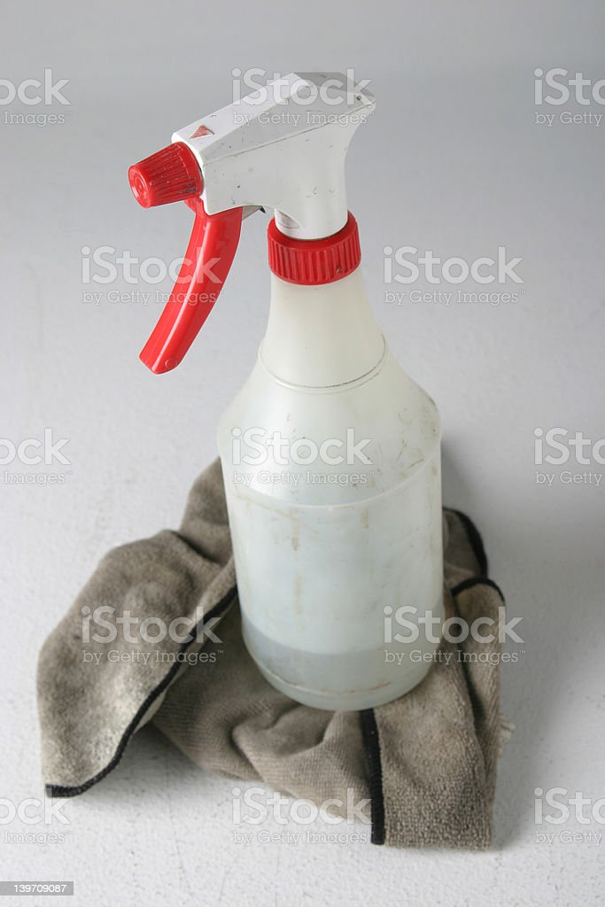 Filthy Spray Bottle royalty-free stock photo
