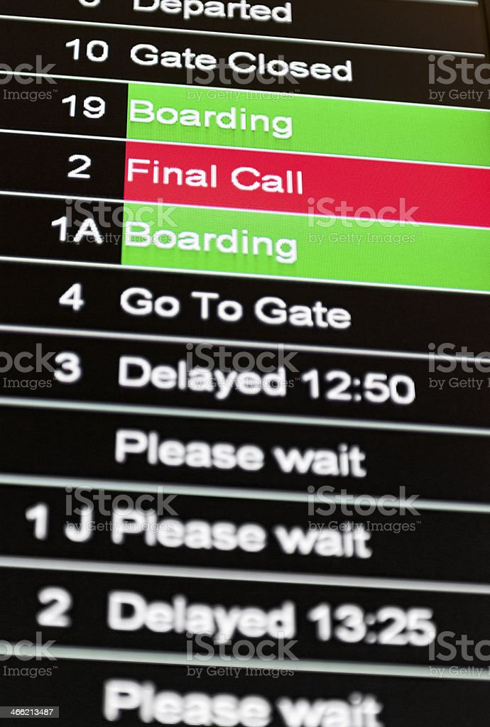 Final Call for Flight Boarding royalty-free stock photo
