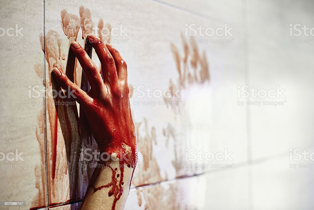 Final cry for help stock photo