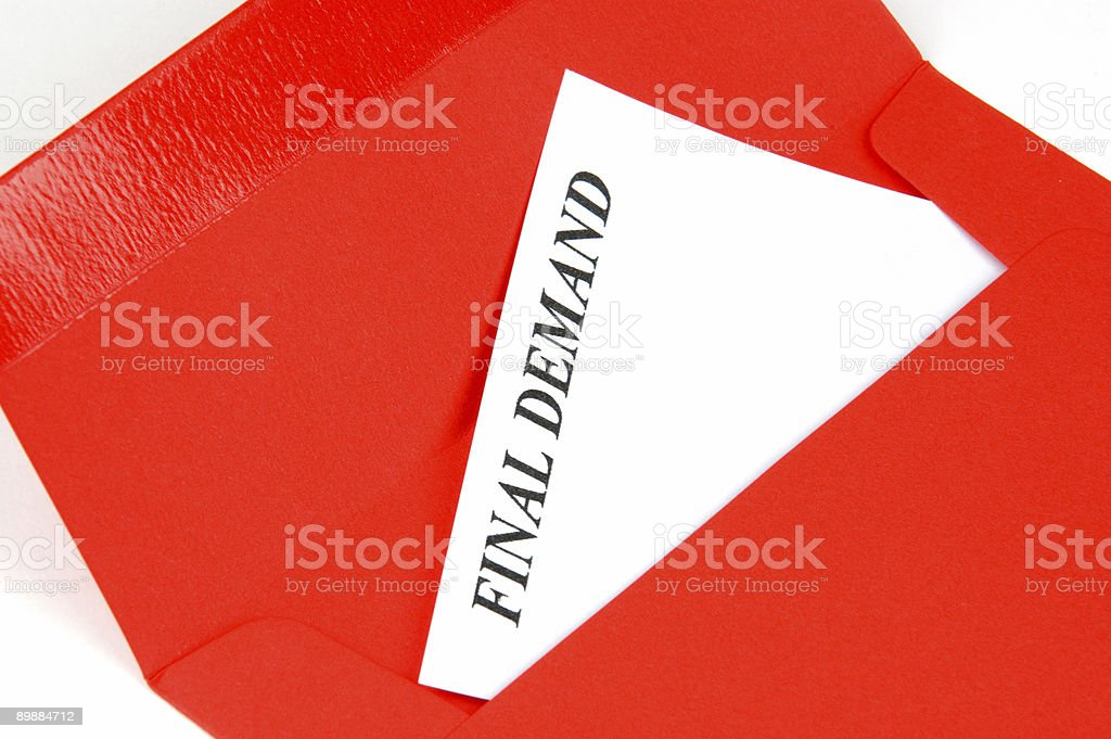 Final Demand Letter royalty-free stock photo