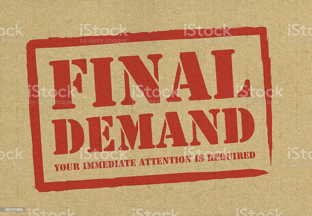 Final Demand royalty-free stock photo