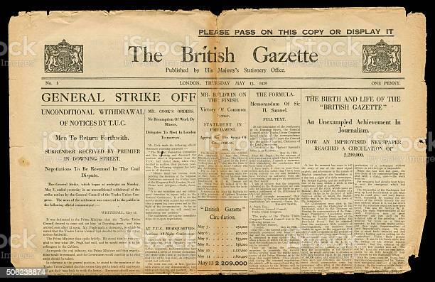 Final edition of the british gazette 13 may 1926 picture id506238874?b=1&k=6&m=506238874&s=612x612&h=clyc3yelmrncbvv3dn69h3hjj3p0qt0mu8acrnkr70w=
