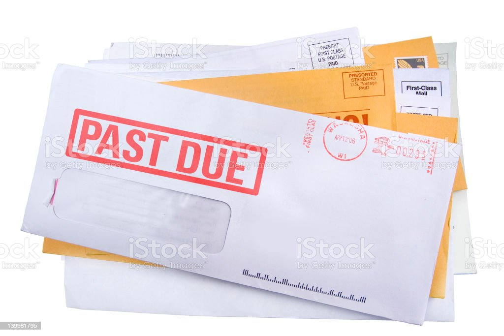 Final notice bill royalty-free stock photo