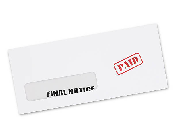 final notice envelope - paid stock pictures, royalty-free photos & images
