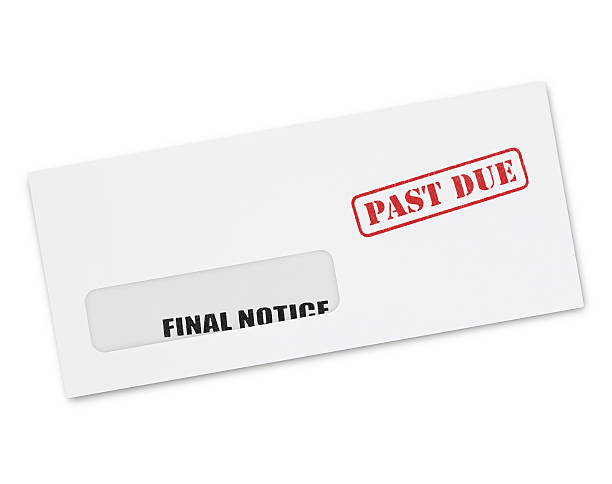 final notice envelope - dept stock pictures, royalty-free photos & images