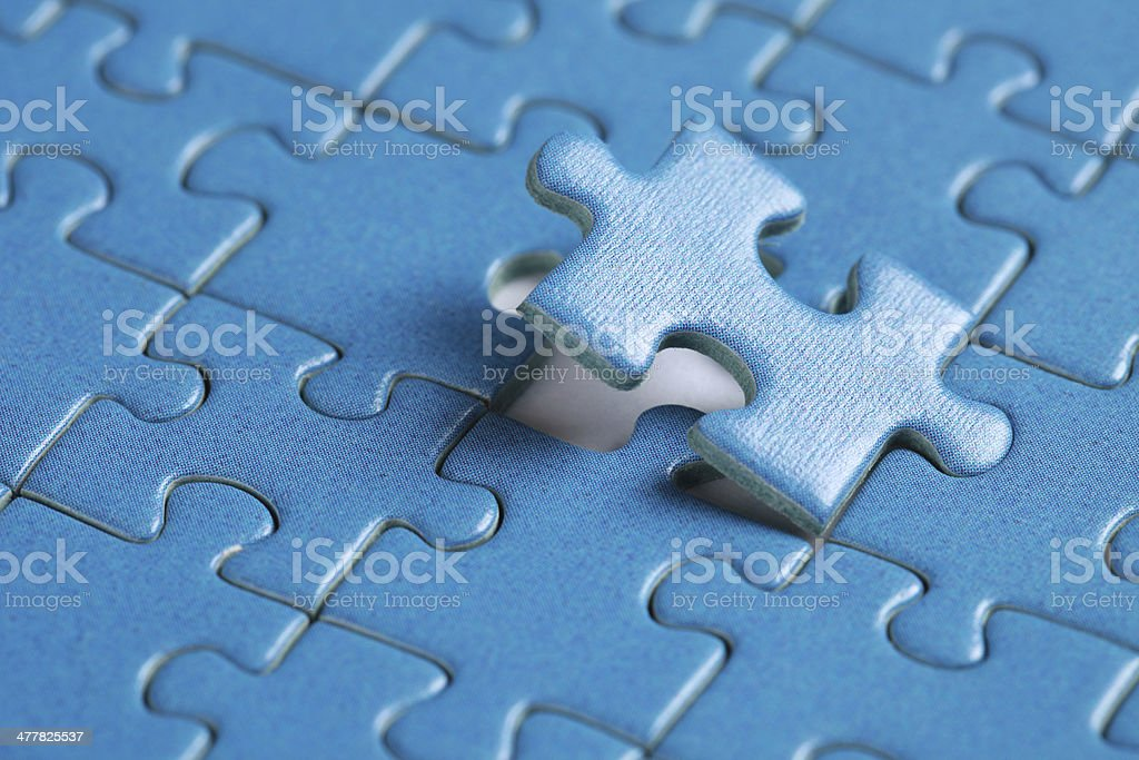 Final piece of jigsaw royalty-free stock photo