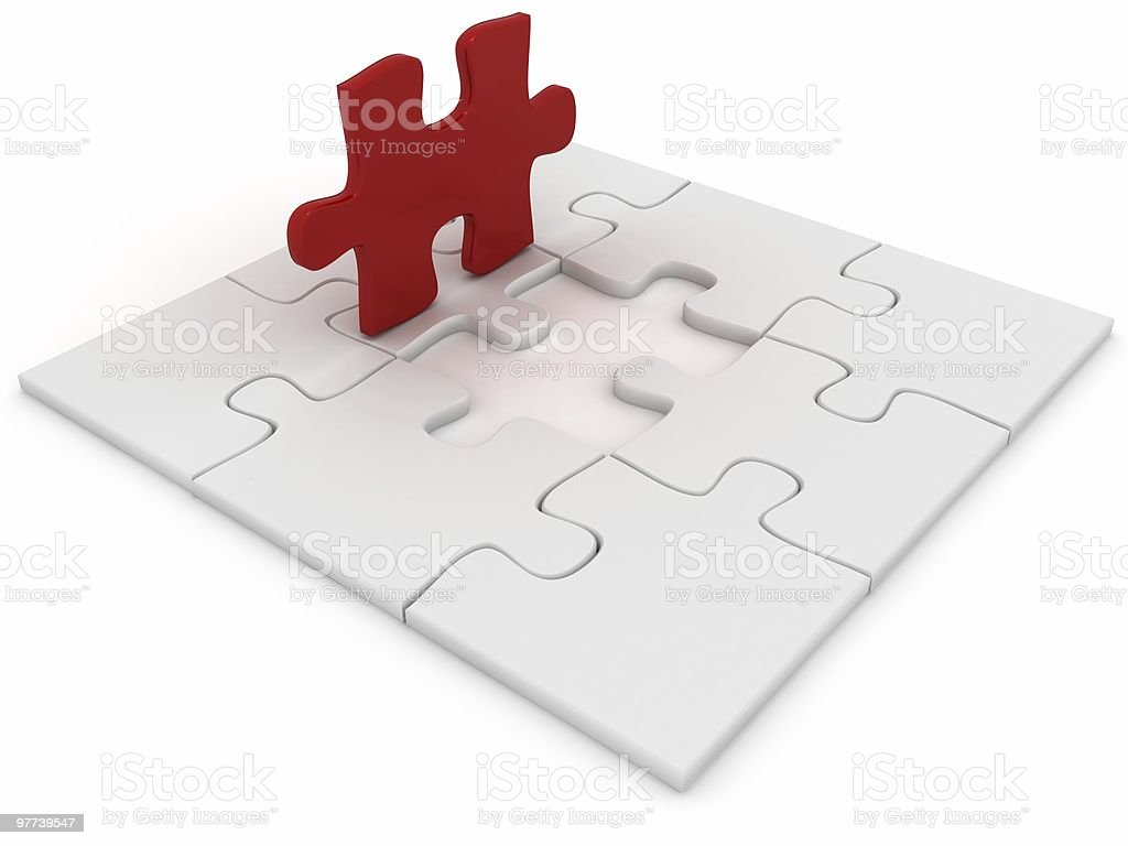 Final Puzzle Piece royalty-free stock photo