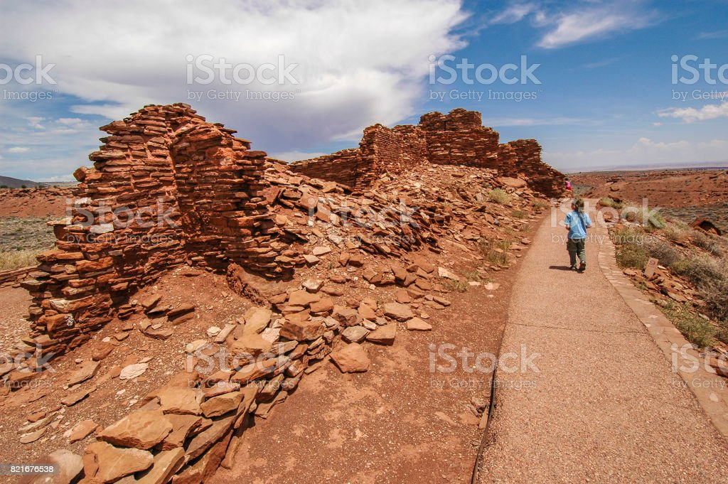 Final steps to an ancient history stock photo