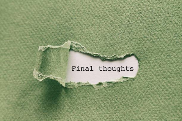 Final thoughts stock photo