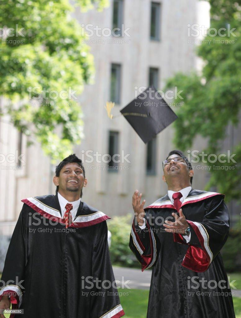 Finally graduates royalty-free stock photo
