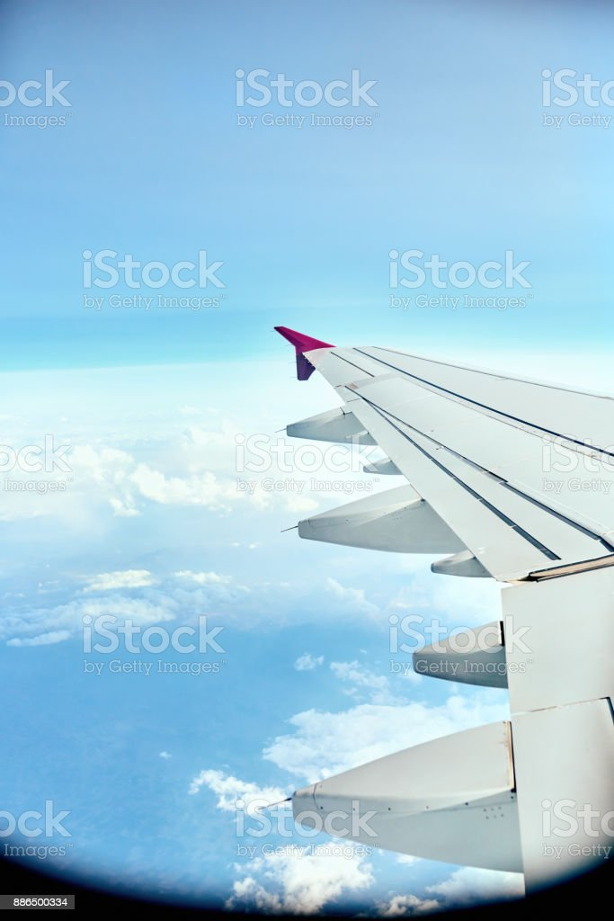 Finally in the air stock photo