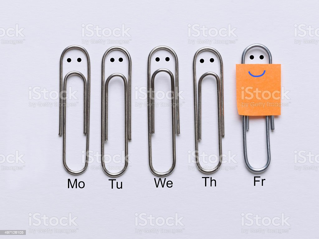 Finally it's Friday stock photo
