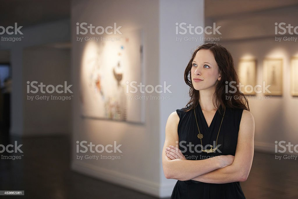 Finally, my first solo exhibition! stock photo