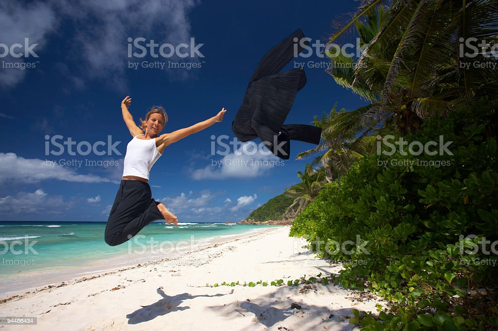 finally on vacation royalty-free stock photo