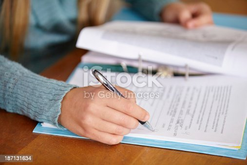 istock Finally - someone who studied! 187131634