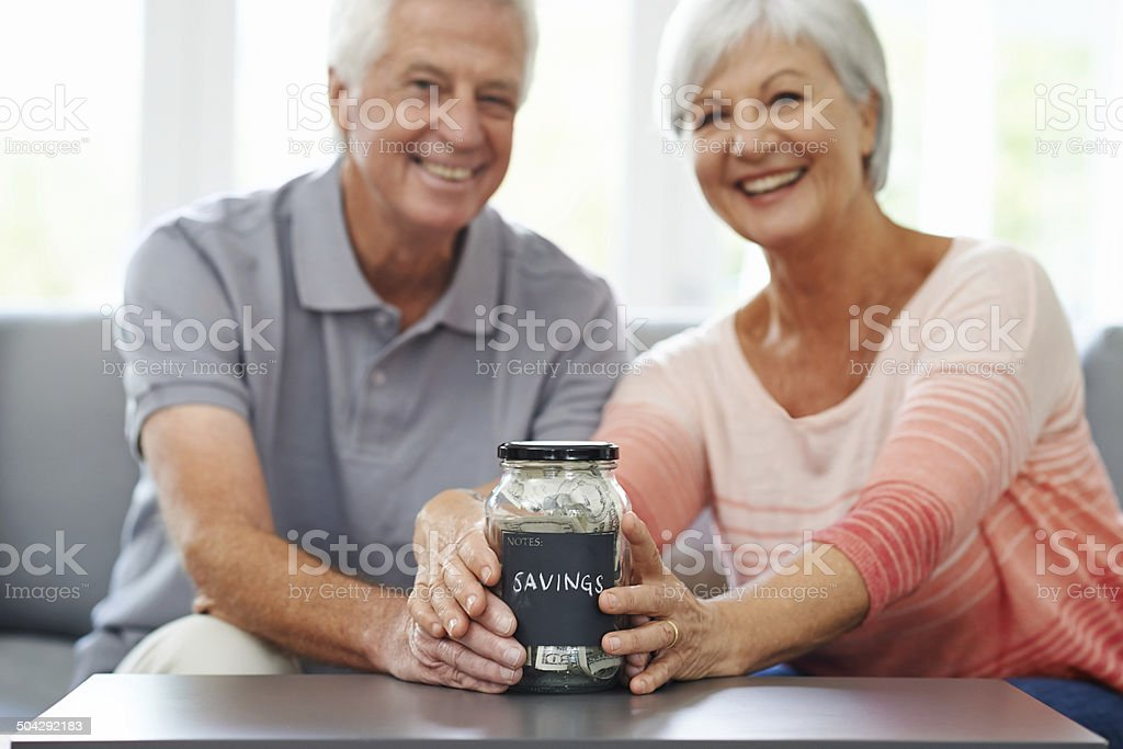 Finally we can take the vacation of our dreams stock photo