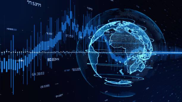 wouldnt technologiekonzept. fintech. - internationale geschäftswelt stock-fotos und bilder