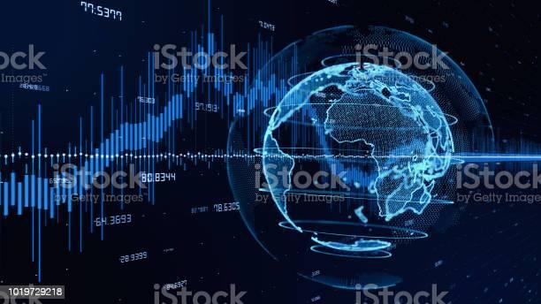 Tegengaan Technologie Concept Fintech Stockfoto en meer beelden van Abstract