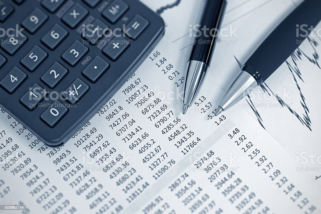 Finance and accounting stock photo