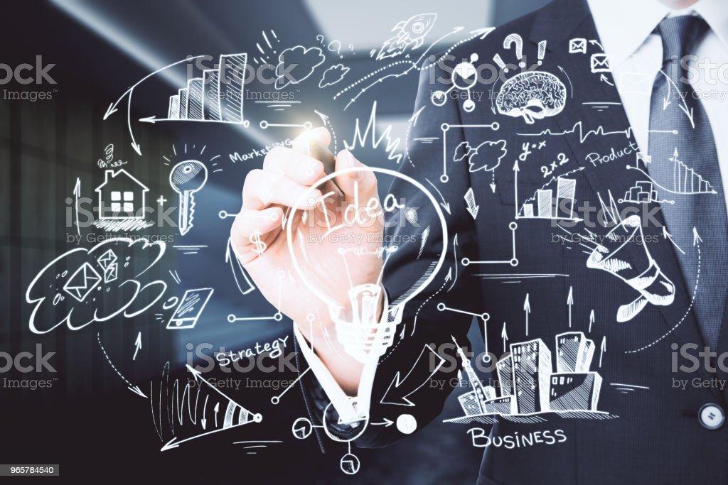 Financiën en onderwijs concept - Royalty-free Bedrijfsleven Stockfoto
