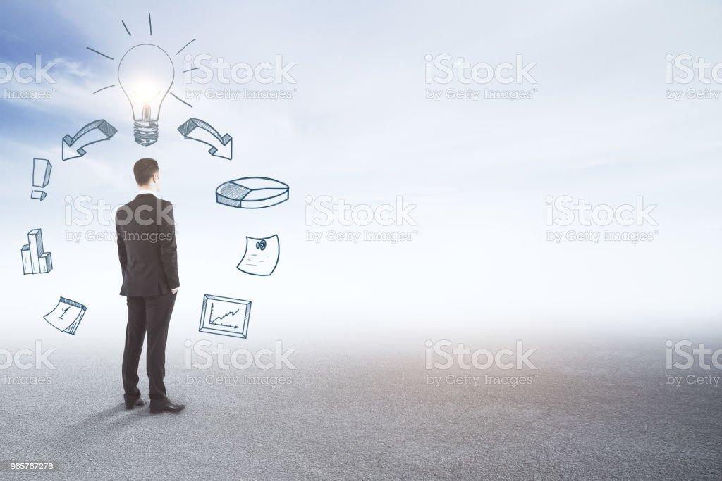 Financiën en idee concept - Royalty-free Alleen mannen Stockfoto