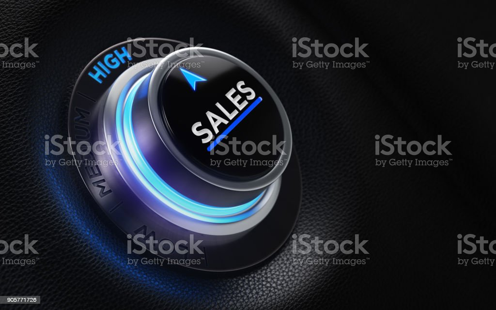 Finance And Investment Concept - Button On A Car Dashboard stock photo