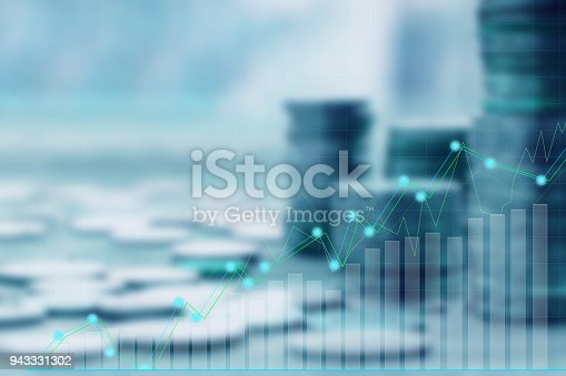 Finance and Investment concept.Money management and Financial chart.blur focus