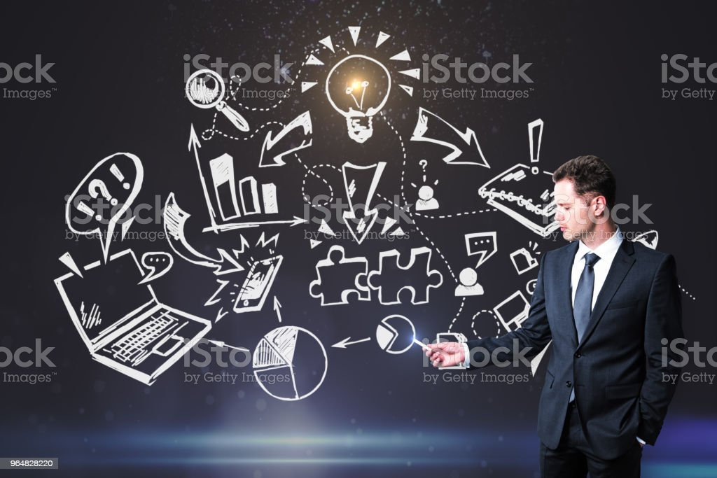 Finance and research concept royalty-free stock photo