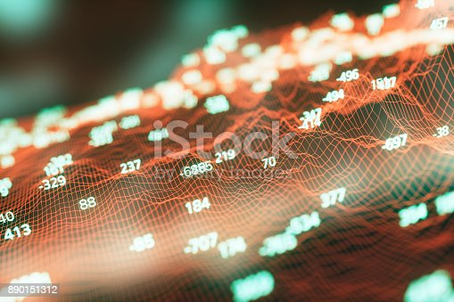istock Finance and stock market data graph 890151312