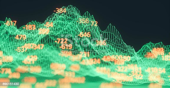 istock Finance and stock market data graph 890151430