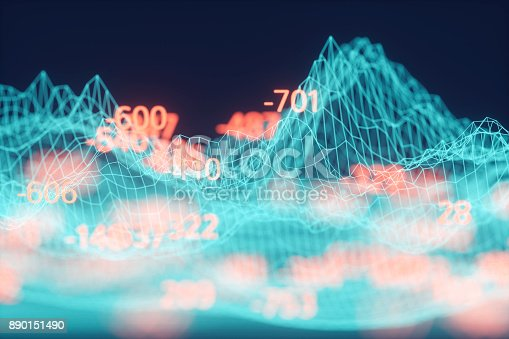 istock Finance and stock market data graph 890151490