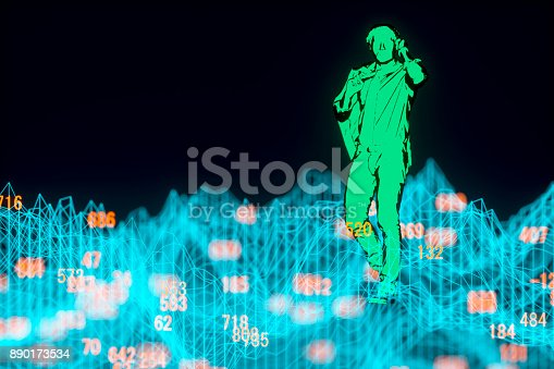 istock Finance and stock market data graph 890173534