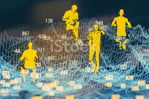 istock Finance and stock market data graph 890178040