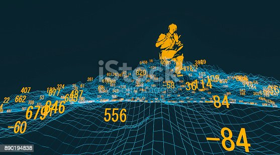 istock Finance and stock market data graph 890194838