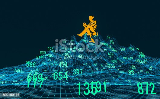 istock Finance and stock market data graph 890199116