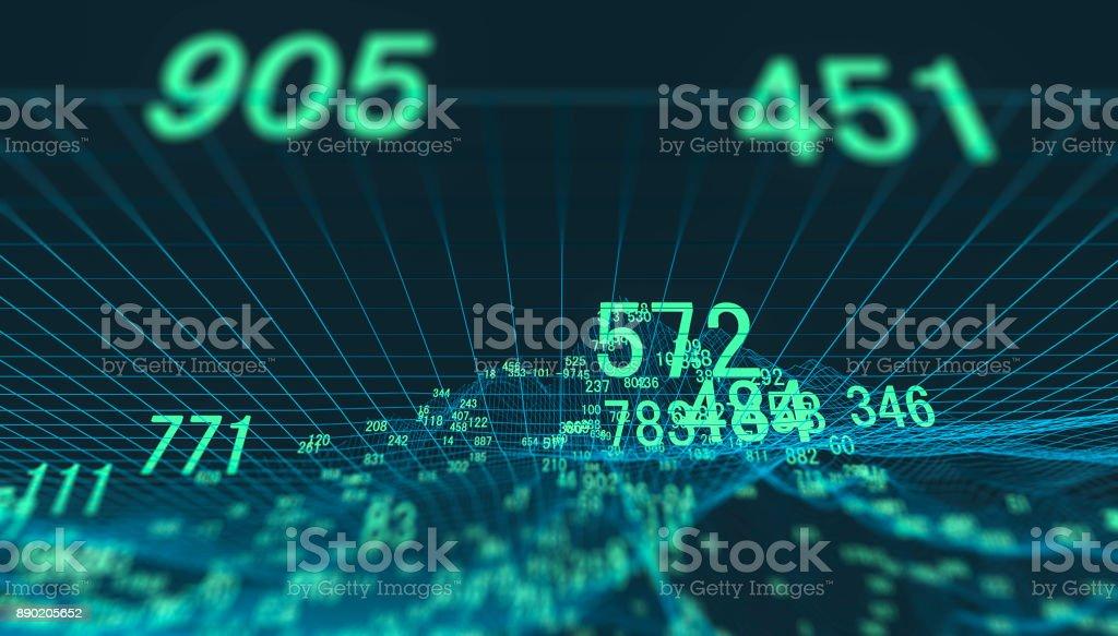 Finance and stock market data graph stock photo