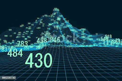 istock Finance and stock market data graph 890205730