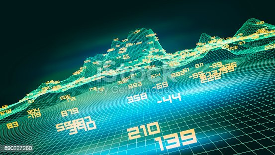 istock Finance and stock market data graph 890227260