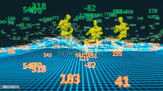 istock Finance and stock market data graph 890248474
