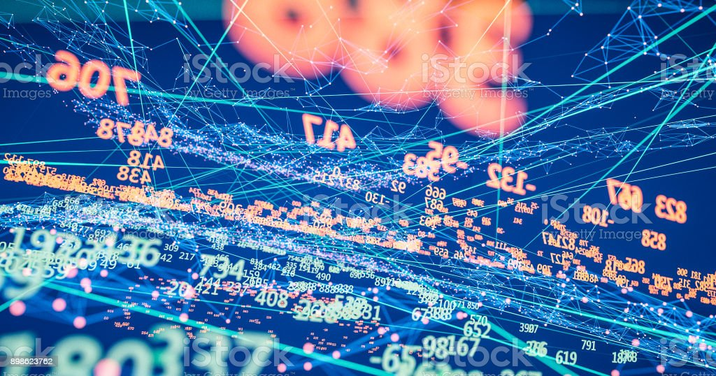 Finance and stock market data graph stock photo