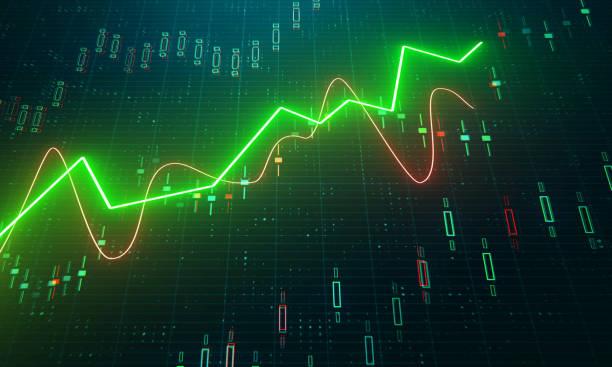 金融和貿易理念 - 股市數據 個照片及圖片檔
