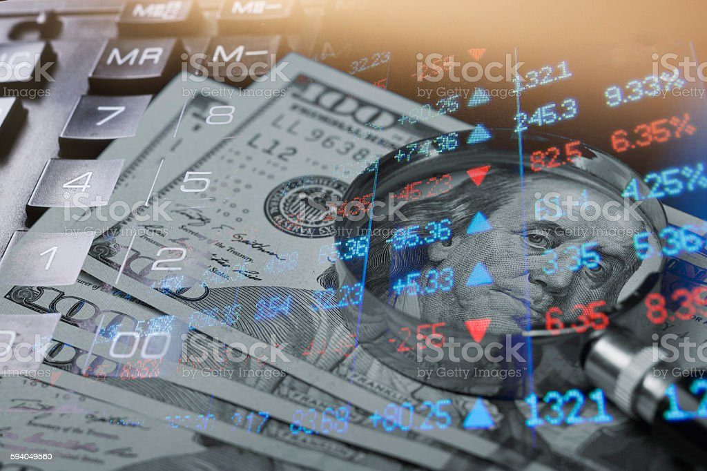 Finance, banking concept. Euro coins, us dollar banknote close-up stock photo