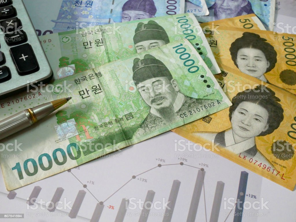 Finance business concept stock photo