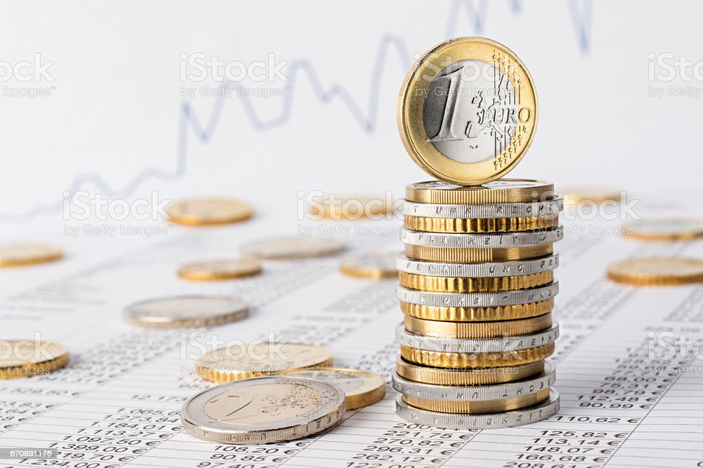 finance business euro stock background stock photo