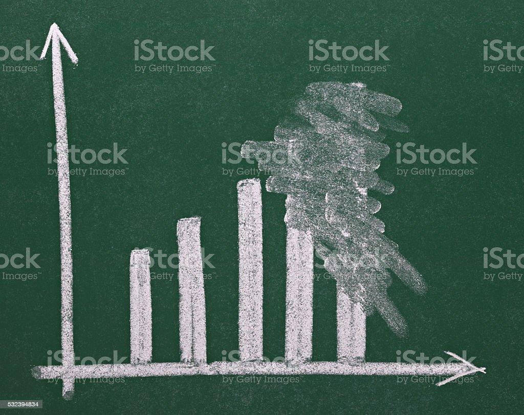 finance business graph on chalkboard economy stock photo